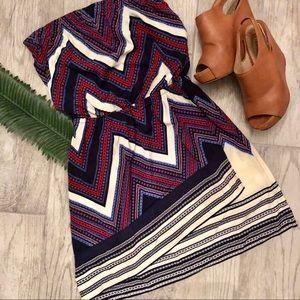 NWOT Express Strapless Aztec Dress